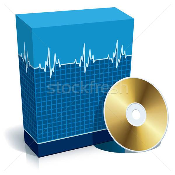 окна медицинской программное синий 3D компакт-диск Сток-фото © Aiel