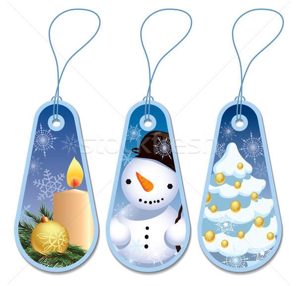 Christmas tags Stock photo © Aiel