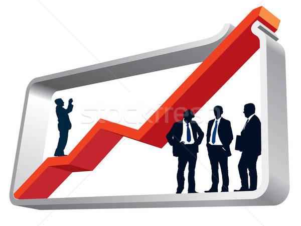 Wykres stałego działalności ilustracja Zdjęcia stock © Aiel
