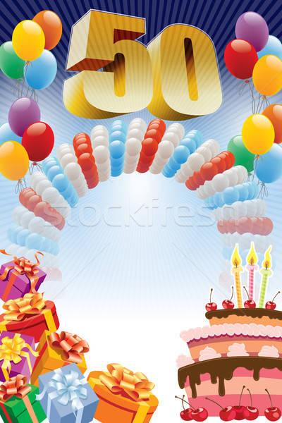 Fiftieth birthday poster Stock photo © Aiel