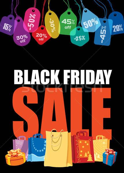Black friday venda colorido preço Foto stock © Aiel