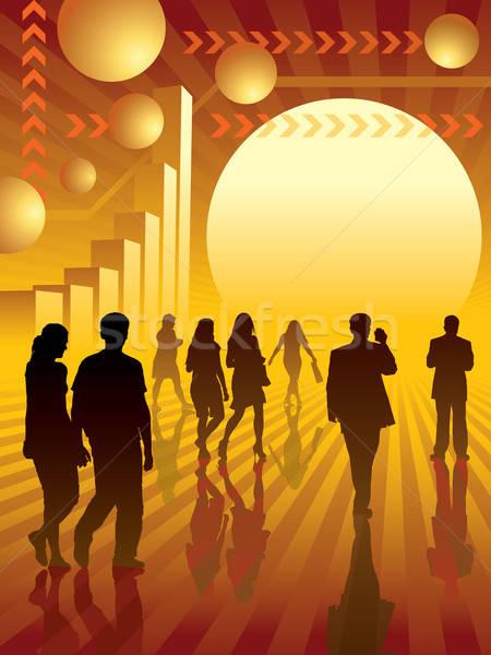 Foto d'archivio: Business · 3 · persone · sole · illustrazione · uomo · Coppia