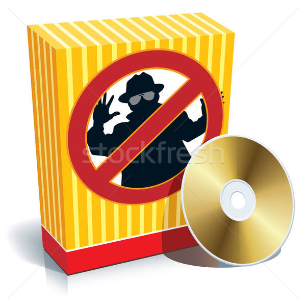 Box with anti-spy sign Stock photo © Aiel