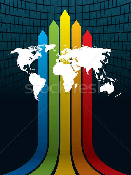 World and rainbow Stock photo © Aiel