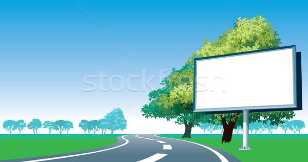 Road billboard and roadside trees Stock photo © Aiel