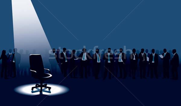 Zdjęcia stock: Pusty · krzesło · tłum · ludzi · człowiek
