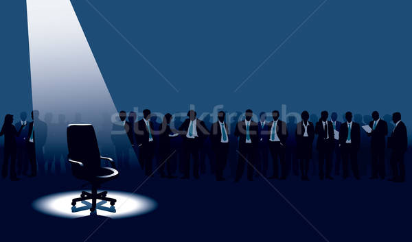 Stockfoto: Vacant · lege · stoel · menigte · mensen · man