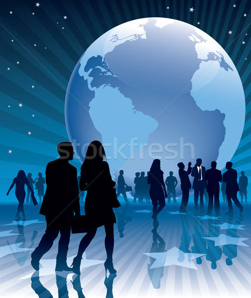 Stock photo: Business earth