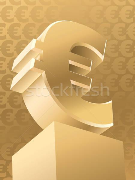 Arany Euro szimbólum vektor üzlet pénz Stock fotó © Aiel