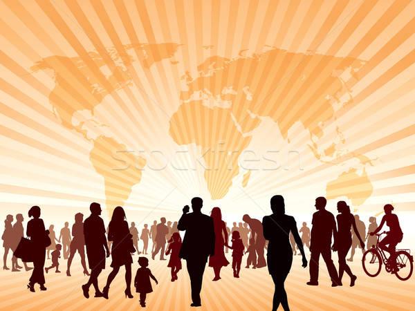 Morgen menigte mensen lopen nieuwe beter Stockfoto © Aiel