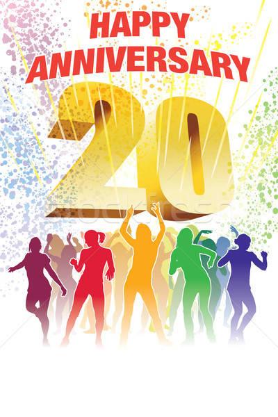 Aniversario colorido multitud baile personas Foto stock © Aiel