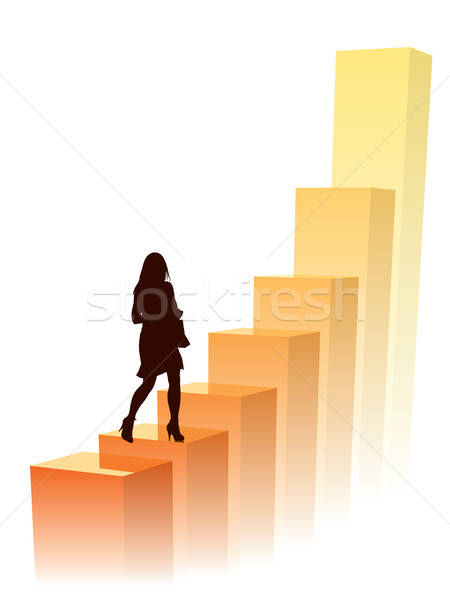 Businesswoman in a hurry Stock photo © Aiel
