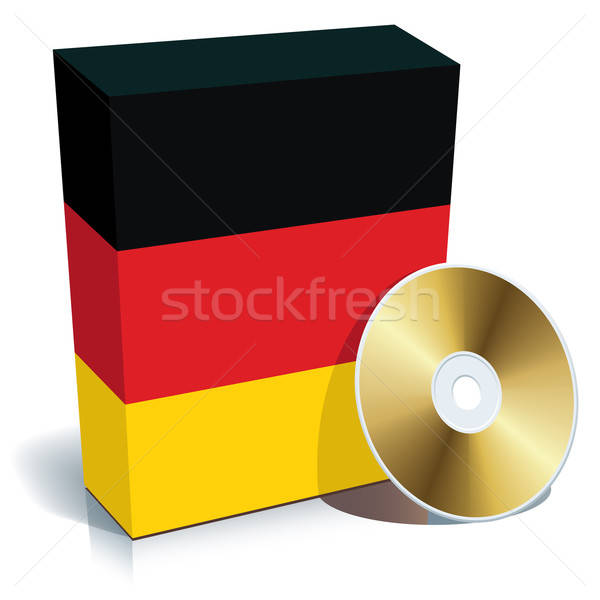 Stock photo: German software box and CD