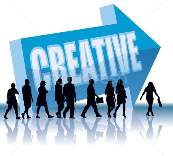 Direzione persone creative business donna ufficio design Foto d'archivio © Aiel