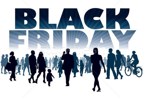 Black friday menigte klanten winkel store familie Stockfoto © Aiel