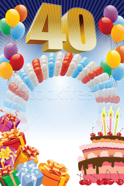 Fortieth birthday poster Stock photo © Aiel