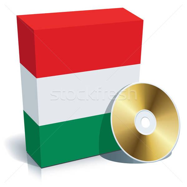 Ungherese software finestra cd bandiera colori Foto d'archivio © Aiel