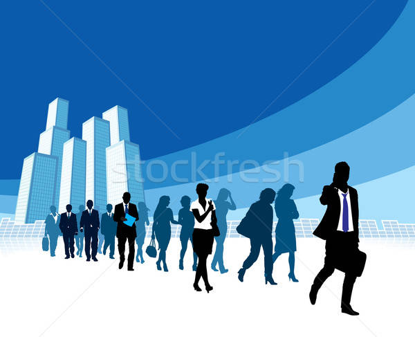 Businesspeople in a hurry Stock photo © Aiel