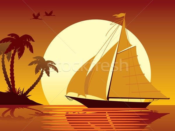 Stock photo: Sailing vacation