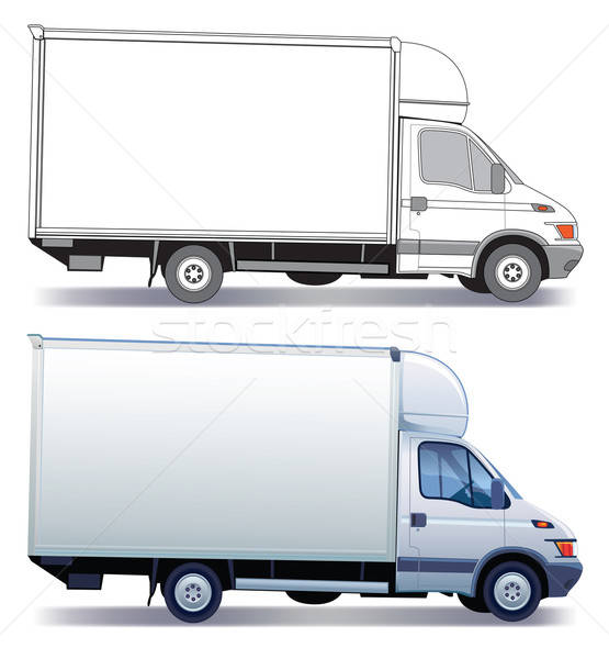 Delivery truck vector illustration © Bogusław Mazur (Aiel ...
