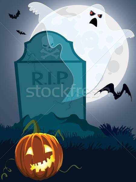 Korkutucu mezar halloween örnek tatil dizayn Stok fotoğraf © Aiel