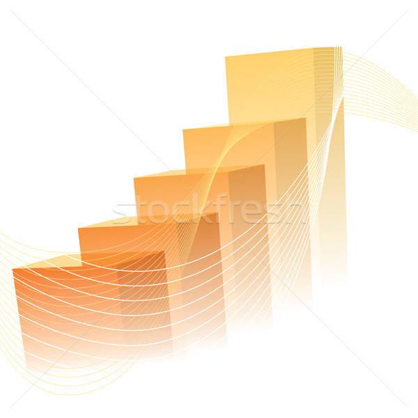 Orange graph Stock photo © Aiel