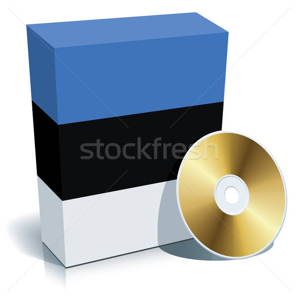 Estonian software box and CD Stock photo © Aiel