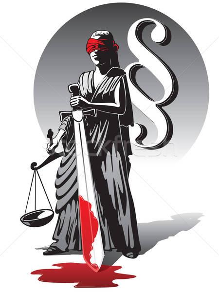 Kanlı bayan adalet kör ölçek Stok fotoğraf © Aiel