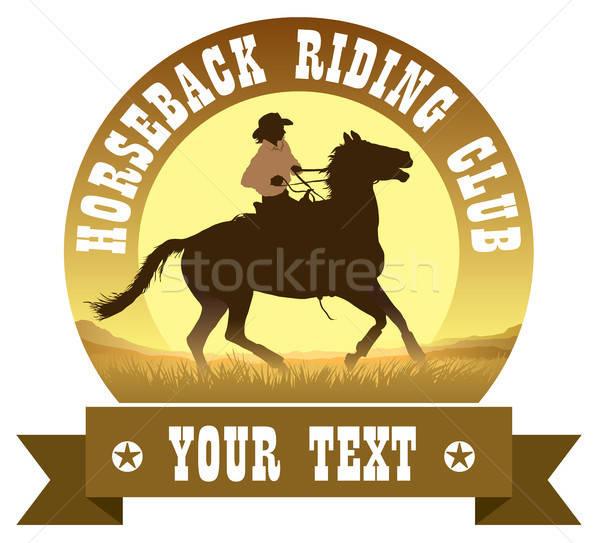 Sign of horseback riding club Stock photo © Aiel