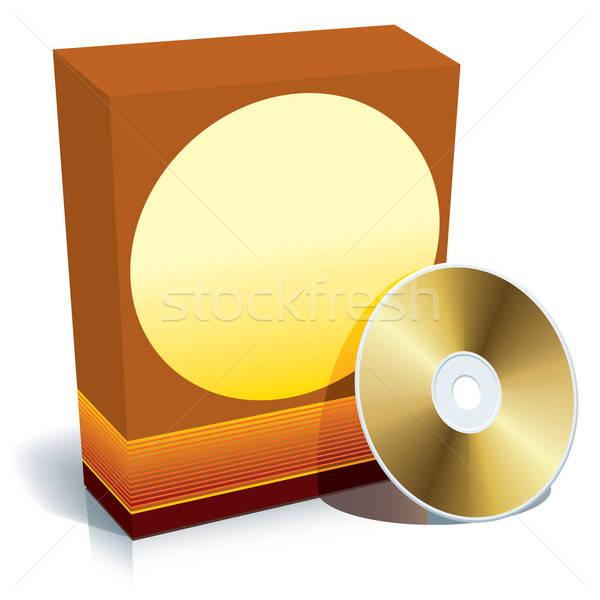 Stockfoto: Vak · cd · vector · Rood · 3D · klaar