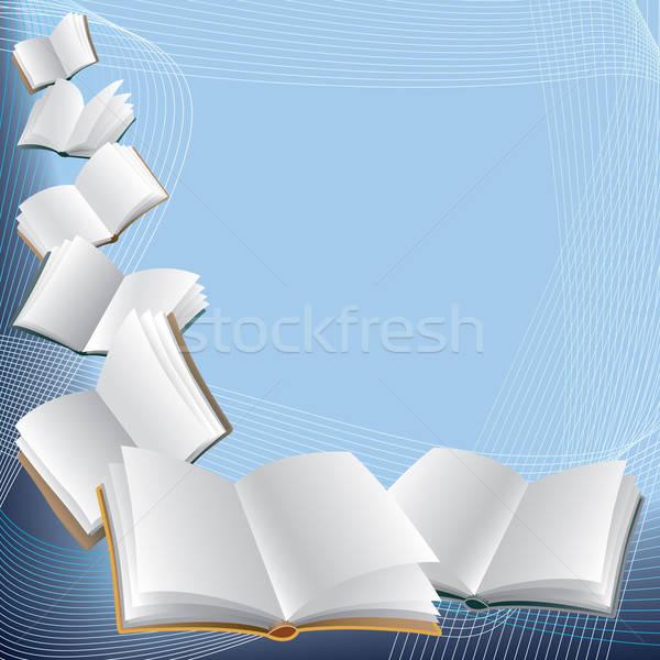 Pfund öffnen unter abstrakten blau Hintergrund Stock foto © Aiel