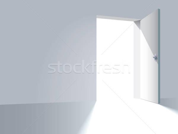 Duvar kapı kapıyı açmak yol ev ev Stok fotoğraf © Aiel