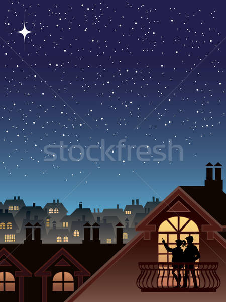 Stars over a town Stock photo © Aiel
