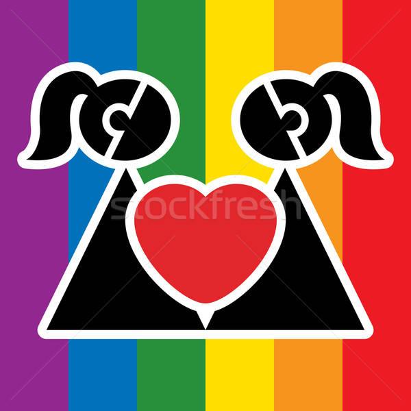 Lesbian sign Stock photo © Aiel