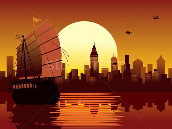 Oriental sunset Stock photo © Aiel