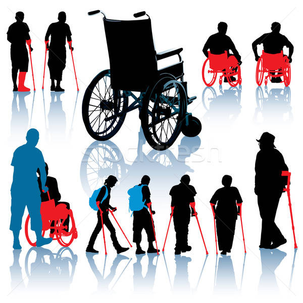Disabled people Stock photo © Aiel