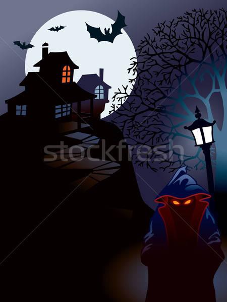ストックフォト: ハロウィン · 家 · パーフェクト · 実例 · 休日 · 月