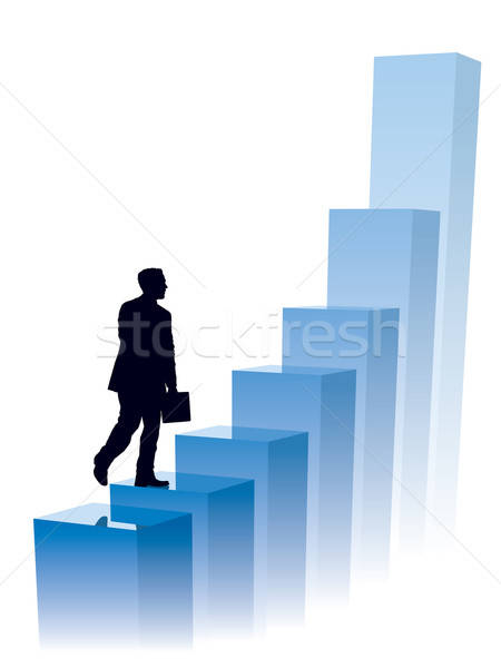 Stock photo: Businessman in a hurry