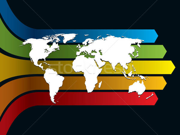 Mondo Rainbow bianco mappa del mondo business illustrazione Foto d'archivio © Aiel
