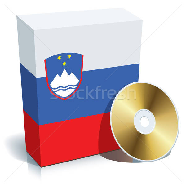 Slovenian software box and CD Stock photo © Aiel