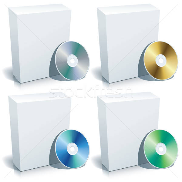 Blank box and DVD Stock photo © Aiel