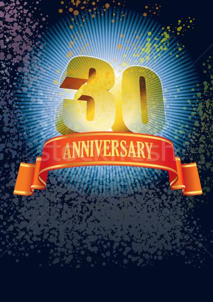Anniversario design elementi poster felice Foto d'archivio © Aiel
