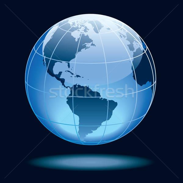 Wereldbol tonen aarde continenten noorden Stockfoto © Aiel
