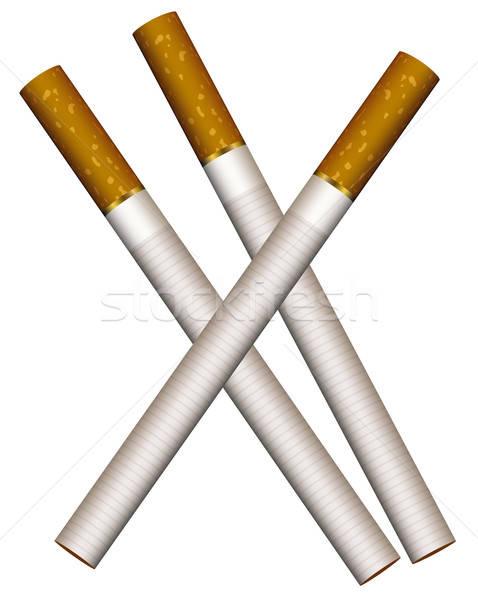 Stock photo: Three cigarettes