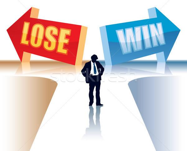 Vincere perdere imprenditore piedi due direzione Foto d'archivio © Aiel