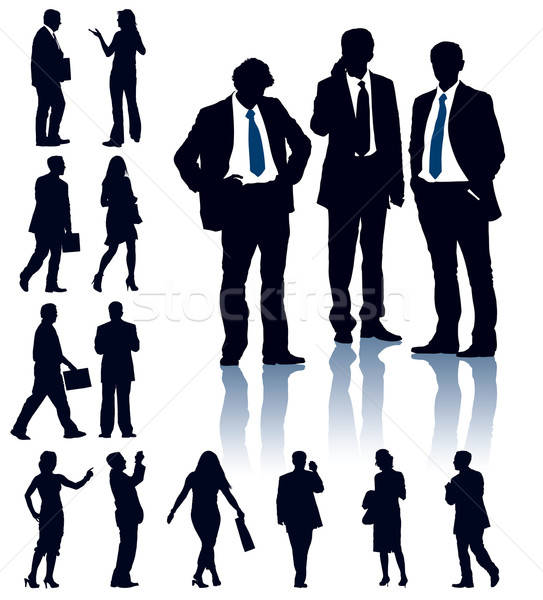 Business silhouettes Stock photo © Aiel