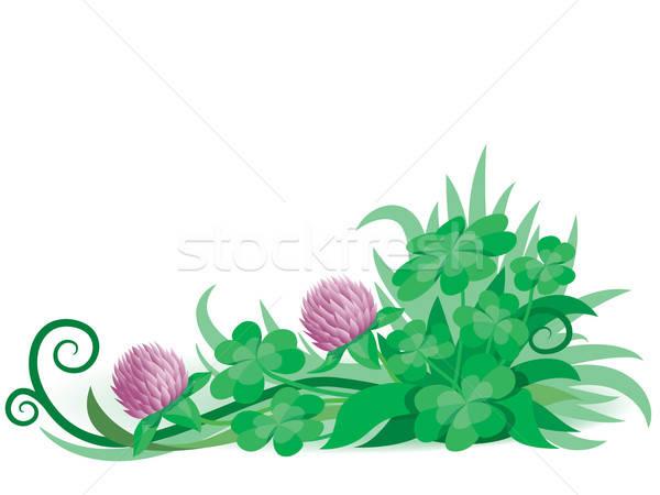 клевера орнамент готовый весны аннотация природы Сток-фото © Aiel