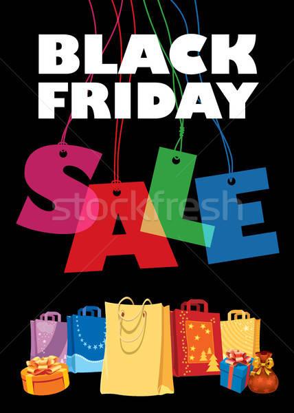 черная пятница большой продажи Creative красочный дизайн шаблона Сток-фото © Aiel