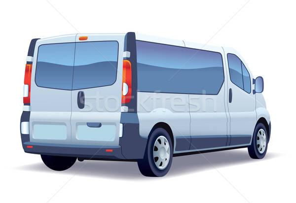 Minibus commerciële voertuig zilver witte familie Stockfoto © Aiel