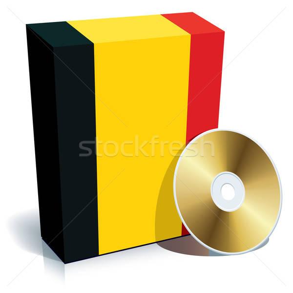 Stock fotó: Szoftver · doboz · cd · zászló · színek · üzlet